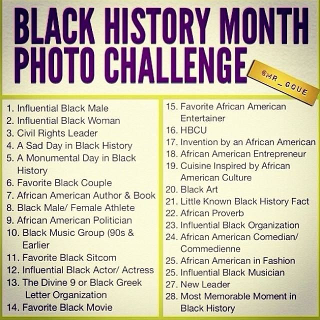 Black History Month Photo Challenge